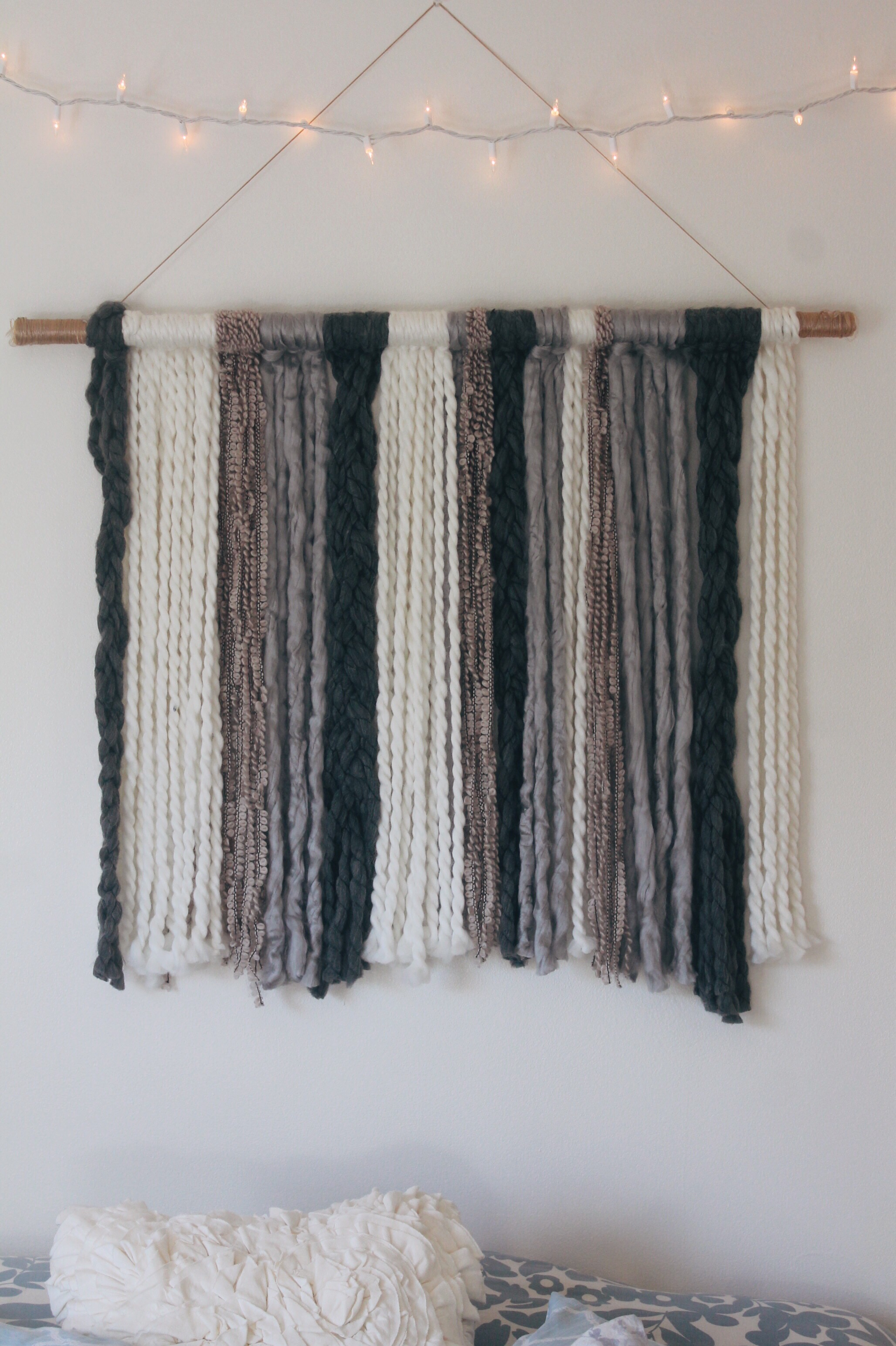 DIY Yarn Wall Tapestry